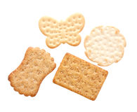 Assorted crackers Stock Photos