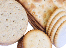 Assorted crackers Royalty Free Stock Photos
