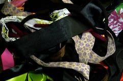 Assorted craft fabric background Stock Image