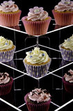 Assorted Cup Cakes on a Stand Stock Image