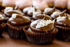 Assorted Cupcakes on Display Stock Photos