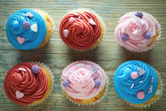 Assorted cupcakes Royalty Free Stock Photos