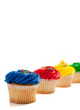 Assorted cupcakes on a white background Stock Image
