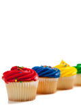 Assorted cupcakes on a white background Stock Photo