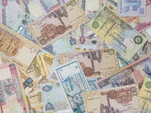 Assorted currency notes Royalty Free Stock Photography
