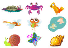 Assorted Cute Animal Illustration in Vector Royalty Free Stock Photos