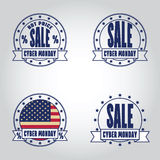 Assorted Cyber Monday Insignias Logotypes Template Set. Stock Photos