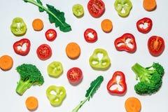 Assorted a découpé des légumes en tranches Photographie stock