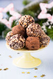 Assorted dark chocolate truffles Stock Images