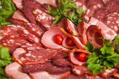 Assorted Deli Cold Meats Royalty Free Stock Photos