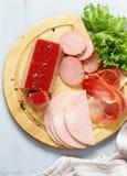 Assorted deli meats - ham, salami, parma, prosciutto Stock Images