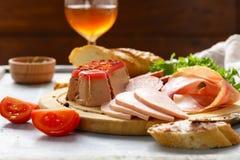 Assorted deli meats - ham, salami, parma, prosciutto Royalty Free Stock Photography