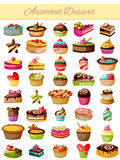 Assorted Dessert Product Food Collection Royalty Free Stock Image
