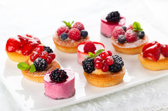 Assorted desserts Stock Photo