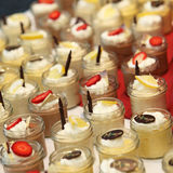 Assorted desserts and sweets -  decorated Royalty Free Stock Photography