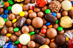 Assorted of different chocolate candy Royalty Free Stock Image
