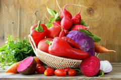Assorted different red vegetable Royalty Free Stock Photos