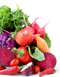 Assorted different red vegetable Stock Image