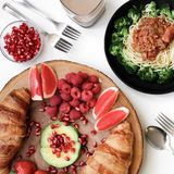 Assorted Dishes on Plate Stock Image