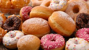 Assorted donut and cake Stock Images