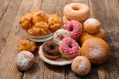 Assorted donut and pastry royalty free stock images