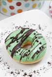 Assorted Donut. Assorted sweet donut, with a sprinkling of brown and green colors are very tasty Royalty Free Stock Photos