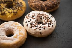 Tasty assorted donuts Stock Images