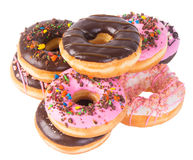 Assorted donuts donuts on a background Stock Photos