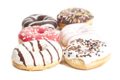 Assorted Donuts isolated on a white Stock Photo