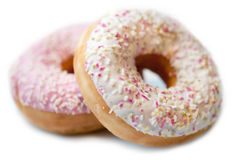 Assorted donuts on white background. Assorted donuts isolated on white background Stock Photography