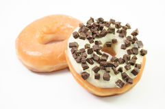 Assorted donuts on a white background Stock Photo