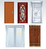 Assorted Doors stock photography