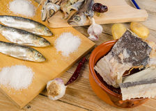 Assorted dried fish Royalty Free Stock Image