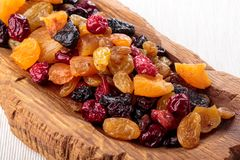 Assorted dried fruit and berries royalty free stock image