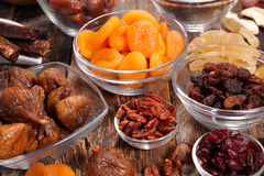 Assorted dried fruit Royalty Free Stock Photos
