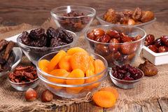 Assorted dried fruit Stock Photo