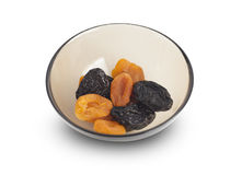 Assorted dried fruits apricots, prunes Stock Photography
