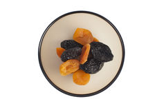Assorted dried fruits apricots, prunes Stock Photo