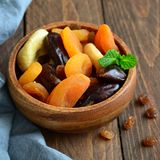 Assorted Dried Fruits Royalty Free Stock Photos