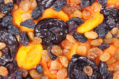 Assorted dried fruits close up Royalty Free Stock Photography