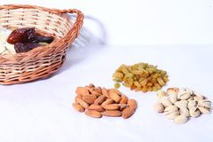 Dry fruits and nuts royalty free stock photo