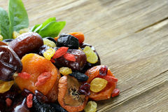 Assorted dried fruits Stock Photo