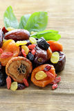 Assorted dried fruits Royalty Free Stock Images
