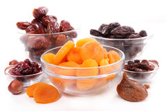 Assorted dried fruits Stock Photos