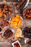 Assorted dried fruits Stock Photography