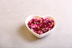 Assorted dried petals and herbs. Used for tea, perfumes, bath and cosmetics Stock Photography