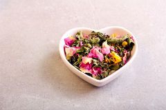 Assorted dried petals and herbs Royalty Free Stock Photography