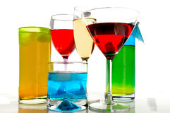 Assorted drinks royalty free stock photo