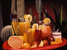 Assorted drinks Stock Photos