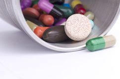 ASSORTED DRUGS CLOSE UP Stock Photography